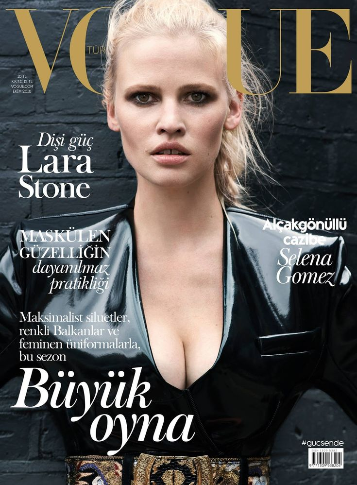 Lara Stone by Liz Collins for Vogue Turkey October 2016