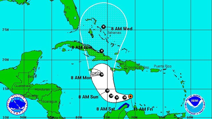 MIAMI —Forecasters in Miami say Matthew has strengthened into a major Category 3 hurricane in the Caribbean.  The National Hurricane Center says Matthew now has top sustained winds of 115 mph (185 kph) and is now centered about 105 miles (170 kilometers) northeast of Punta Gallinas, Colombia. It says the storm as of 11 a.m. EDT Friday was centered about 495 miles (800 kilometers) southeast of Kingston, Jamaica, and moving west-southwest at 12 mph (19 kph).