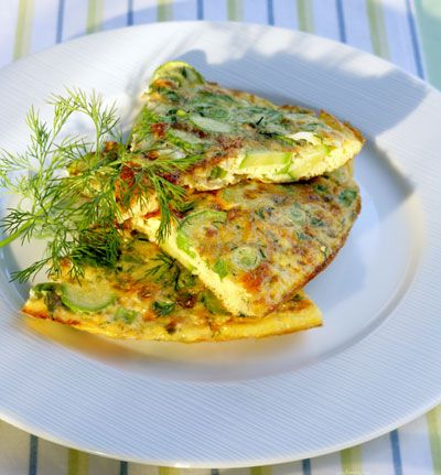 Easy Mother's Day recipe for a zucchini omele