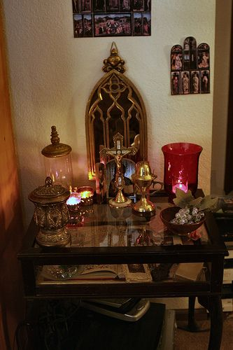 Home Altar by Candlelight | by Rinabobina