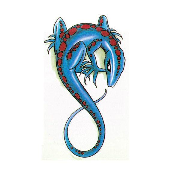 Tatuaje de lagarto falso