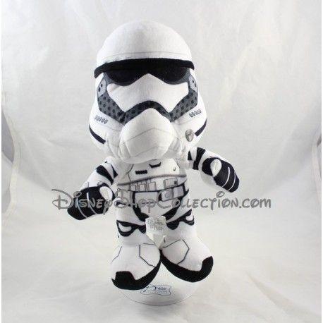 Peluche Stormtrooper Star Wars DISNEY NICOTOY blanc noir 30 cm