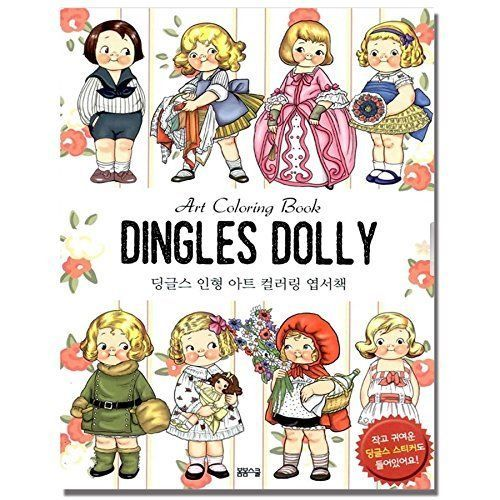 Dolly Dingle Stress Relieving Coloring Postcards Set Anti Book In Books Children Young Adults YA Non Fiction