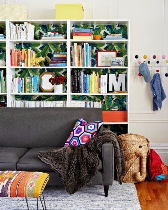 Living Room Layout Ideas: Place a Bookcase Behind Your Sofa | Apartment Therapy