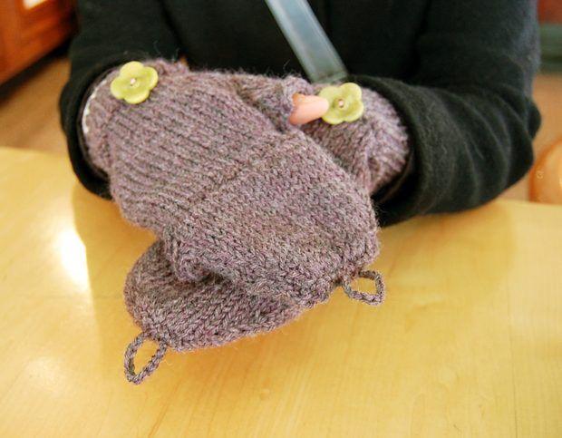 Cómo tejer mitones sin dedos convertibles