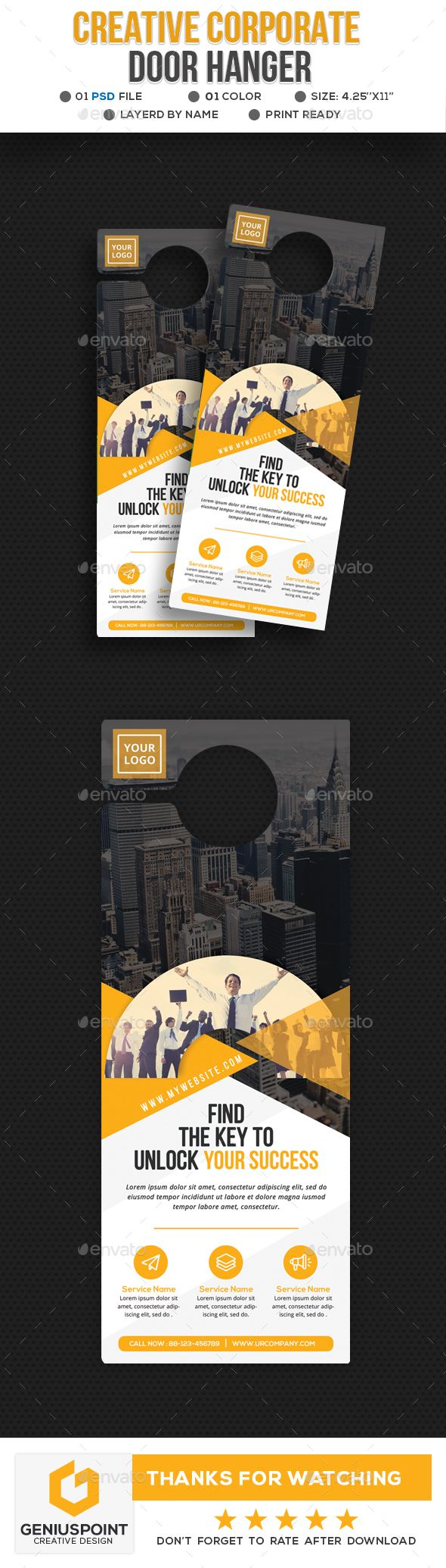 Creative Business Door Hanger Template PSD