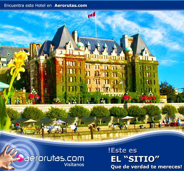 Conoce uno de los lugares más peculiares y famosos de Canadá, el Hotel Fairmont Empress en Victoria. ¡Reserva Ahora! http://hoteles.aerorutas.com/templates/447771/hotels/169527/overview?roomsCount=1&rooms%5B0%5D.adultsCount=1&rooms%5B0%5D.childrenCount=0&currency=USD&currencySymbol=%24&lang=es