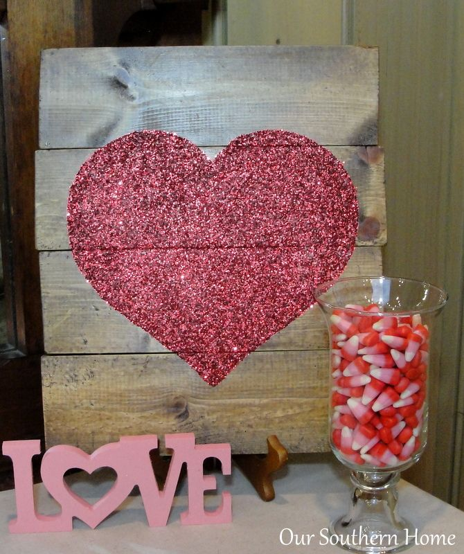 DIY Mod Podge Heart Art ~ craft tutorial from Our Southern Home Valentine's Day