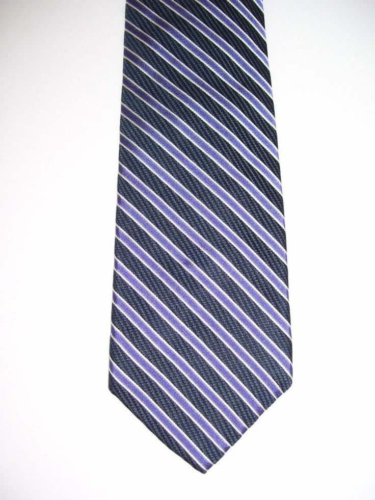 "Express Men Suit Neck Tie 100% Italian Silk 3.75""W 61""L LONG Striped Multi-Color #Express #Tie"