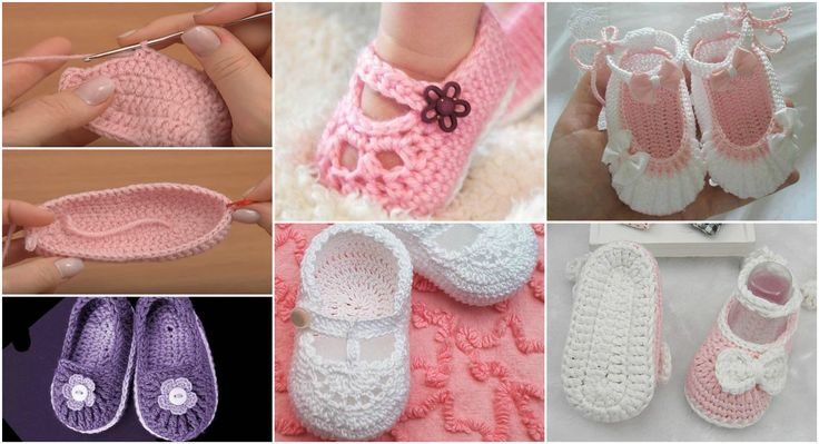 Crochet Cute And Colorful Baby Booties