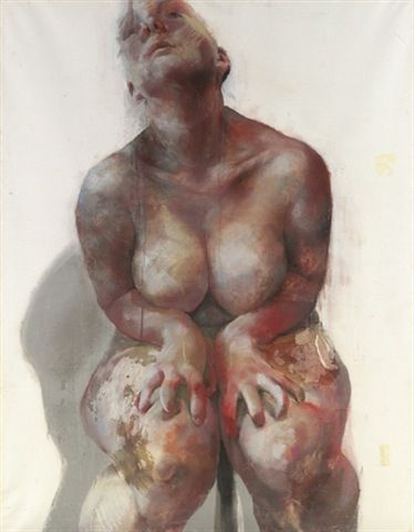 Jenny Saville, paints/photographs larger women, flip side to anorexia, over eating, binge eating