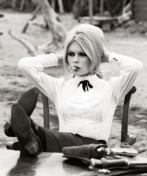 Brigitte Bardot photographed on the set of Shalako,1968