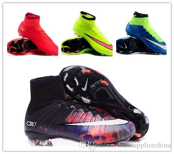 Nike Kid'S Children'S Women'S Youth Mercurial Superfly Fg Cr7 Cleats Shoes  Soccer Boots Men Superfly Shoes