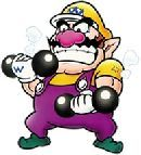#Wario lifting weights  More Wario Pics? Sure, you got it - http://www.superluigibros.com/wario-pictures