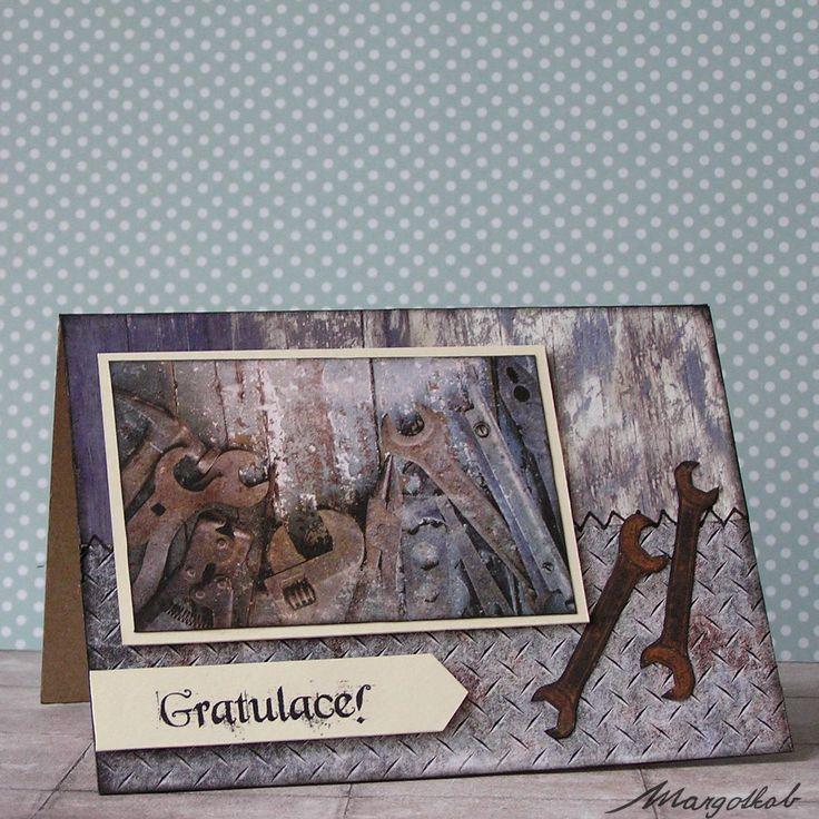 MargotkabCZ: Přání pro muže k narozeninám a jiným příležitostem... blahopřání a přáníčka pro kutily, motorkáře, veterány, rybáře, kluky, pány chlapy. Masculine cards for men