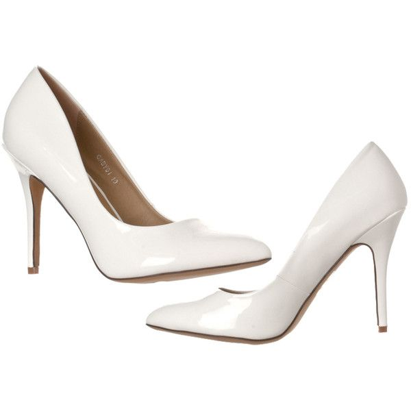 Women's Riverberry Women's Gaby Pointed Closed Toe Stiletto Pump Heels... (345 ZAR) ❤ liked on Polyvore featuring shoes, pumps, pumps & heels, white, pointy-toe pumps, heel pump, white pointed-toe pumps, sexy shoes and white closed toe shoes