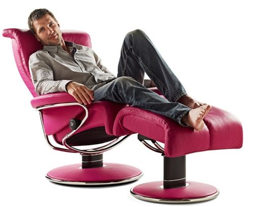Stressless Blues reclining chair Love the pink leather!  sc 1 st  Pinterest & 24 best Ekornes Stressless images on Pinterest | Recliners ... islam-shia.org