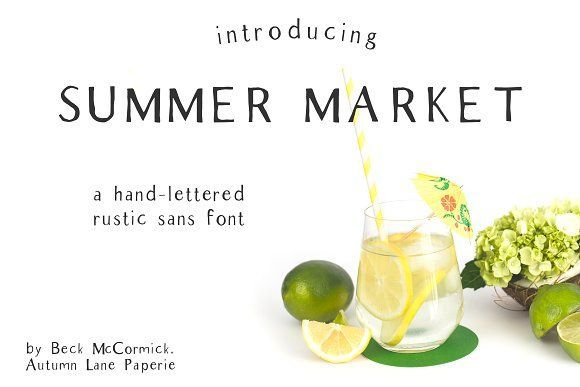 Summer Market - Rustic Font by BeckMcCormick on @creativemarket