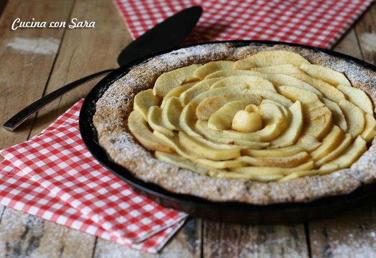 Ricetta crostata integrale con mele e marmellata