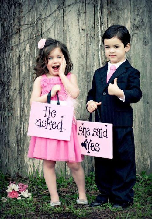 ring bearer flower girl wedding ...how adorable!!: Photo Ideas, Wedding Ideas, Wedding Photo, Dream Wedding, Flower Girls, Weddingideas, Flowergirl, Kid