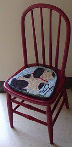 Rug-Hooked-chair-seat-Frank-Bielec