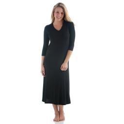 Haley l/s Long Gown Black