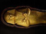 mm7864; 18th Dynasty; New Kingdom; Egypt; Tut; Tutankhamun; Mummy; Valley of the Kings, KV62, Foetus Coffin, Gold, The Egyptian Museum, Cairo