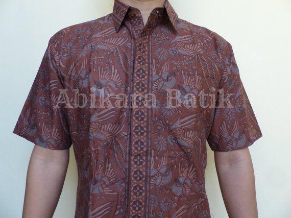 Birds Floral Patterned Shirt  Tailored/Handmade  Colour by Abikara