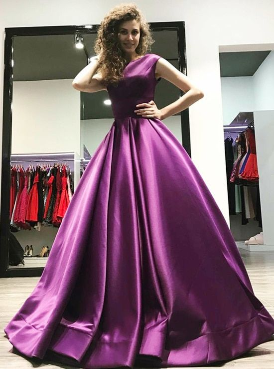 aa130e3ef1 Purple Ball Gown Prom Dresses