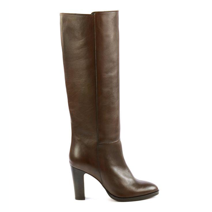 Classy brown leather boots - Classy bruine leren laarzen