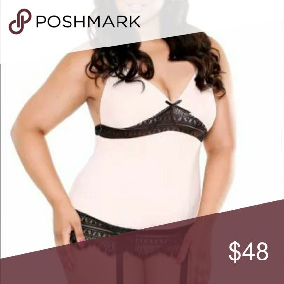 NEW!!! Plus Size Camisole set This is a New Blush Soft Plus Size Luxury Camisole Set. Made of soft-to-the touch blush microfiber and finished with contrasting black eyelash lace.  *Size: 1X/2X (14-18)* Intimates & Sleepwear