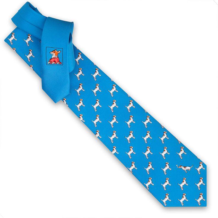 #Terrier #Printed #Silk #Tie #inspired by #AndyWarhol