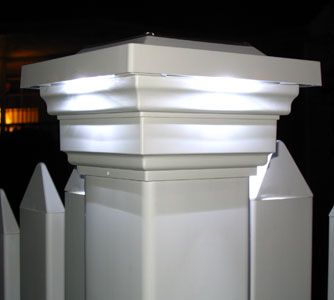 outdoor solar lights for picket fence