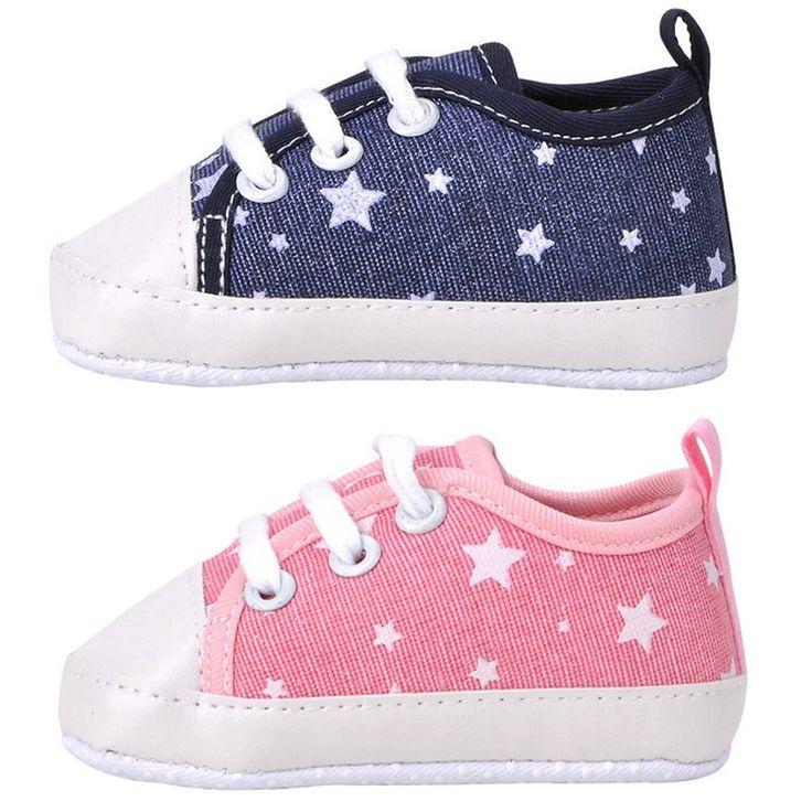 Новое поступление новорожденный малыш мягкой подошвой дети туфли холст Prewalker кружева up тапки 0   18 м купить на AliExpress