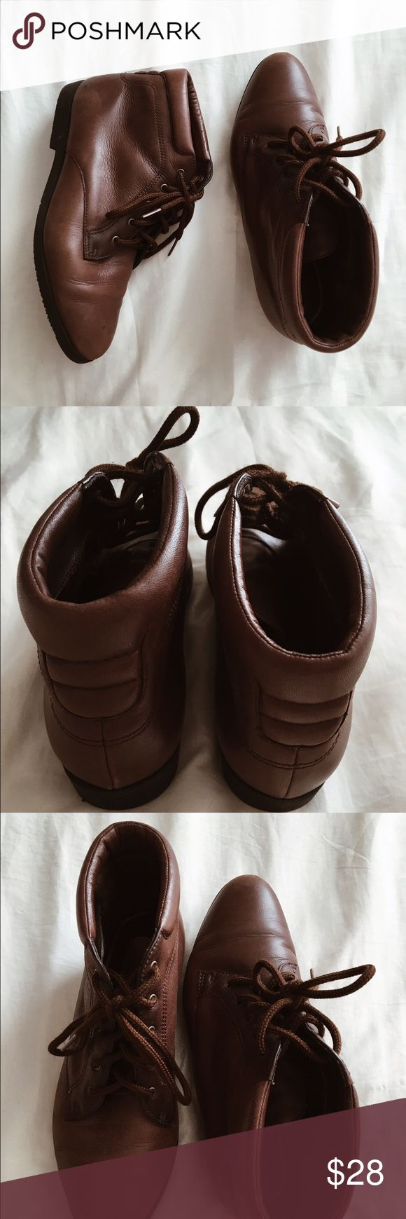 "Short brown ""hipster"" boots NOT urban! In perfect condition, only worn once. Urban Outfitters Shoes"