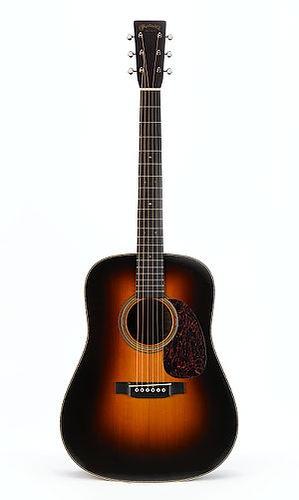 Martin D-28 Marquis Sunburst acoustic guitar.