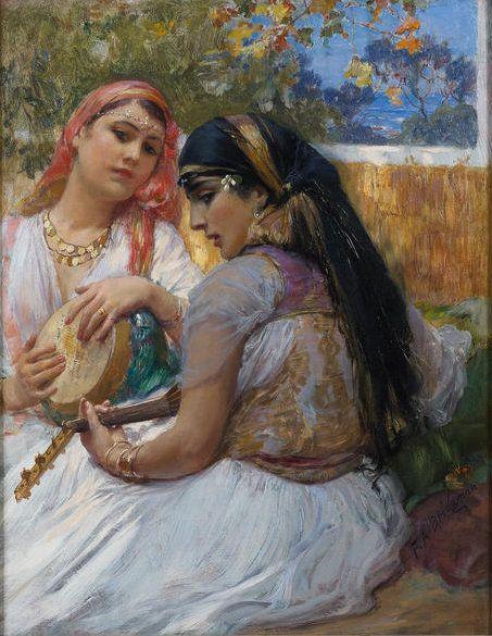 Frederick Arthur Bridgman - Two young Algerians