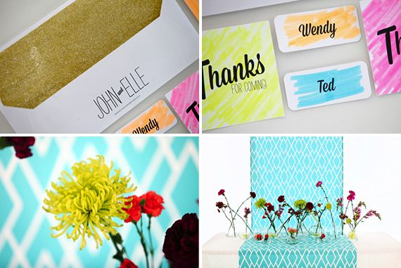 Stationery, Boutonnieres & Photo Booth Props: Canvas Stationery Boutique | Photography: Custo Photo