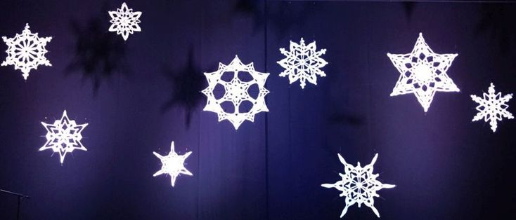 Giant Crocheted Snowflakes