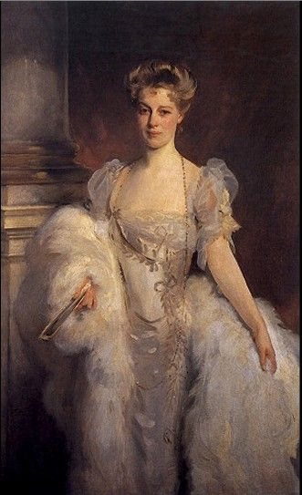 The second Mrs J P Morgan. Frances Louisa Tracy, known as Fanny (1842–1924) Married John Pierpont 'J.P.' Morgan on May 31, 1865. Painted in c.1906 by John Singer Sargent.