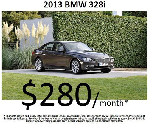 Friday Special: $280/month for a 2013 #BMW 328i! Offer expires: 03/31/2014 !