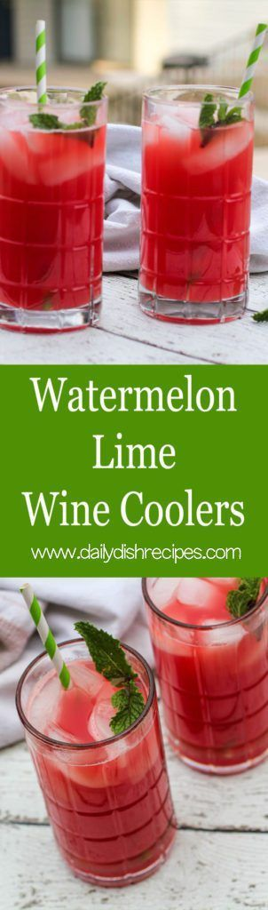 Watermelon Lime Wine Coolers