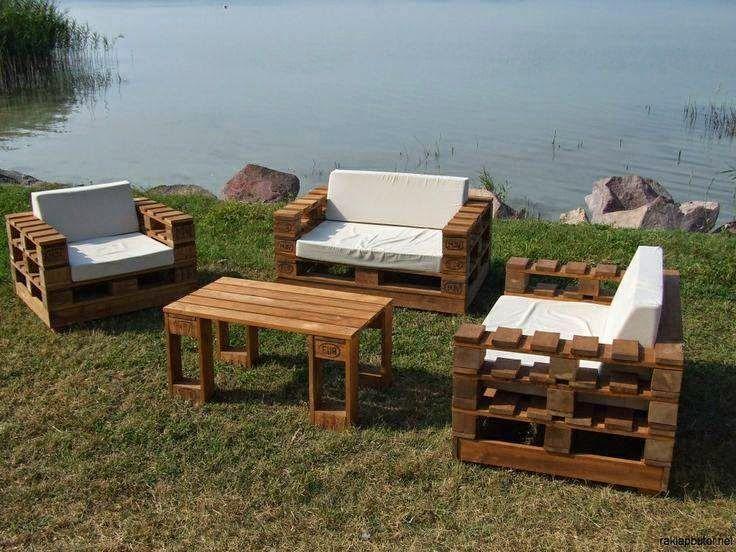 1000 images about decora o com paletes furniture made for Sofa exterior jardim