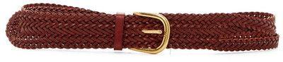 Linea Pelle Wide Triple Braid Belt