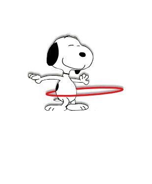 Snoopy, hula hoop