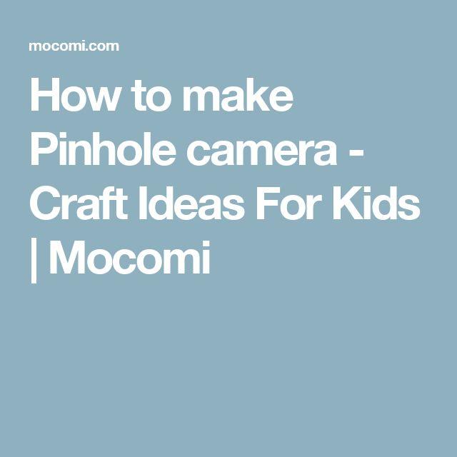 How to make Pinhole camera - Craft Ideas For Kids | Mocomi