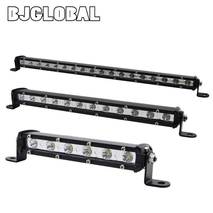 18W 36W 54W LED Light Bar ATV Off Road Light Lamp Fog Driving Work Lights For 4x4 Offroad SUV Car Truck Trailer Tractor UTV //Price: $38.32      #followme
