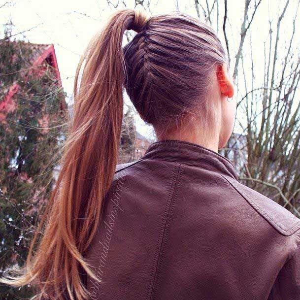 Enjoyable 1000 Ideas About French Braided Ponytail On Pinterest Braided Short Hairstyles For Black Women Fulllsitofus