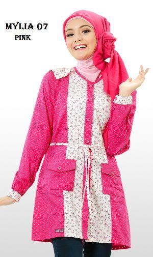 Baju  Blus Tunik  Ethica Mylia 07 Pink