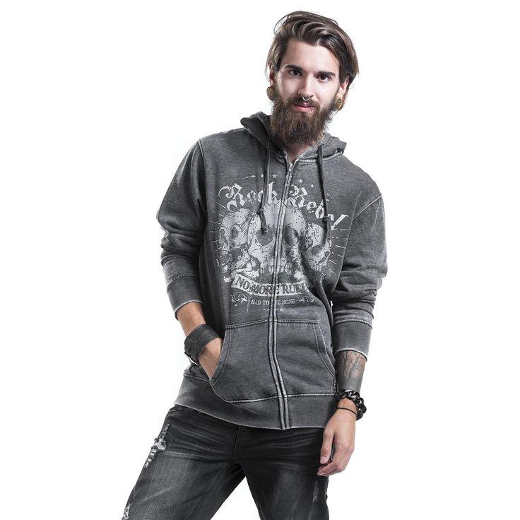 Rock Rebel by EMP  Vest met capuchon  »Hooded Burnout Jacket« | Nu te koop bij Large | Meer Kunsthars  Vesten met capuchon online beschikbaar - De beste prijs!